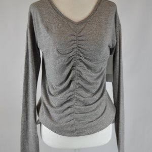NWT Zella Heather Grey Two-Way Top - S